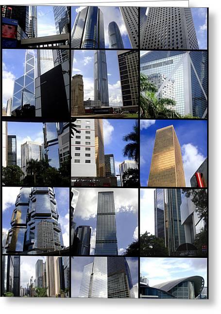 Lost In Hong Kong Greeting Card by Roberto Alamino