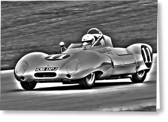 Lotus 11 Monochrome Greeting Card by Alan Raasch