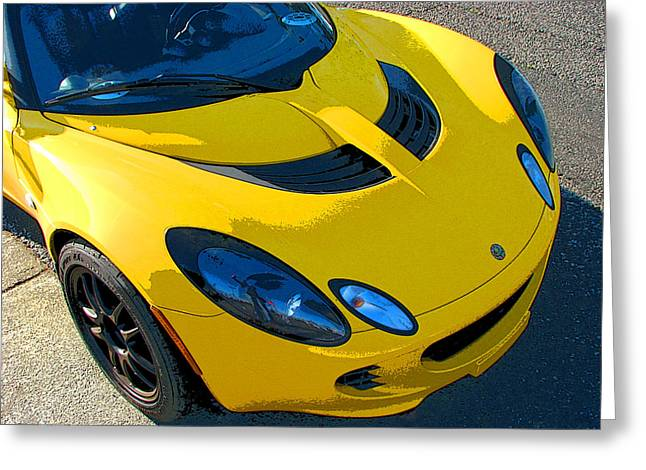Lotus Elise Front Study Greeting Card by Samuel Sheats