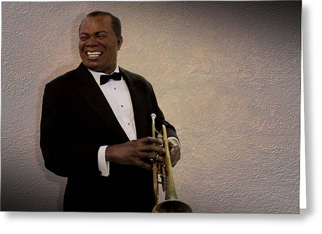 Louis Armstrong Greeting Card by David Dehner