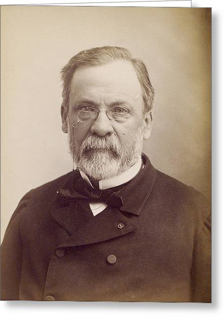 Louis Pasteur, French Microbiologist Greeting Card by Humanities And Social Sciences Librarynew York Public Library