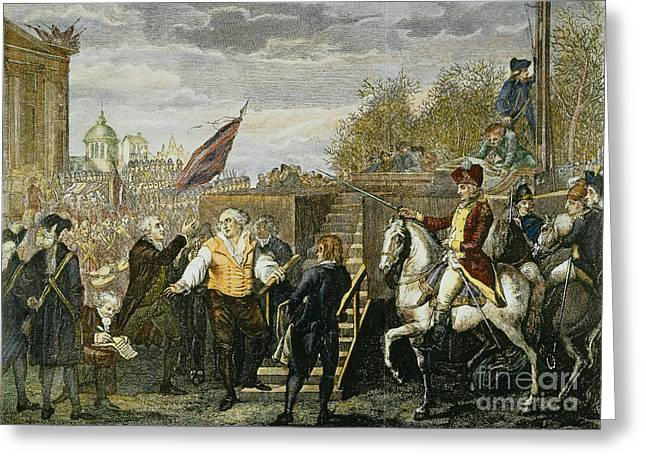 Louis Xvi: Execution, 1793 Greeting Card by Granger