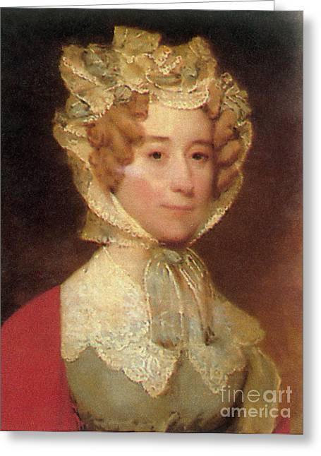 Louisa Adams Greeting Card by Photo Researchers