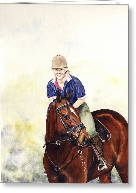 Louise And Bare Greeting Card by Carol McLagan