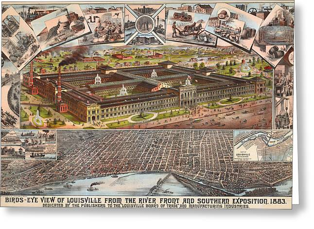 Louisville 1883 Greeting Card by Donna Leach