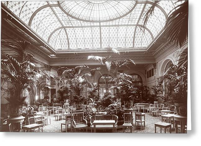 Lounge At The Plaza Hotel Greeting Card by Henry Janeway Hardenbergh