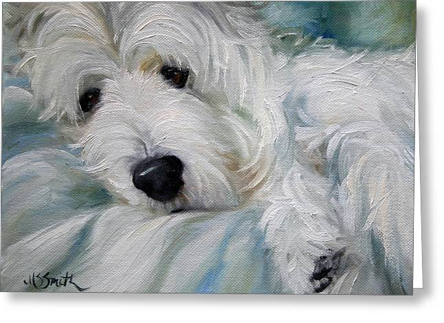 Lounging In The Shadows Greeting Card by Mary Sparrow