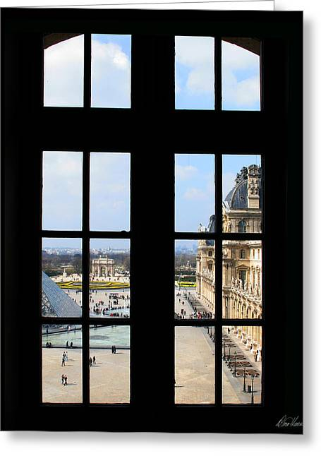 Louvre Window Greeting Card