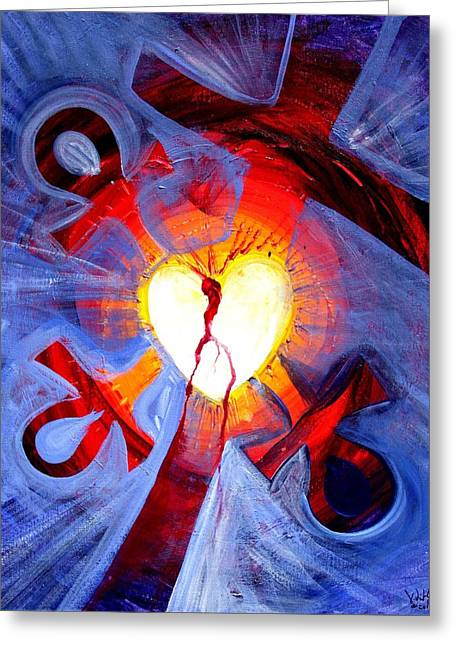 Love - In Three ... For All Greeting Card by J Vincent Scarpace