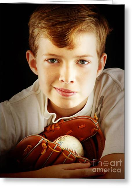 Love Baseball Greeting Card by Lj Lambert