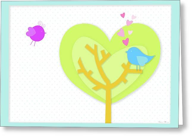 Love Birds Greeting Card by Nomi Elboim