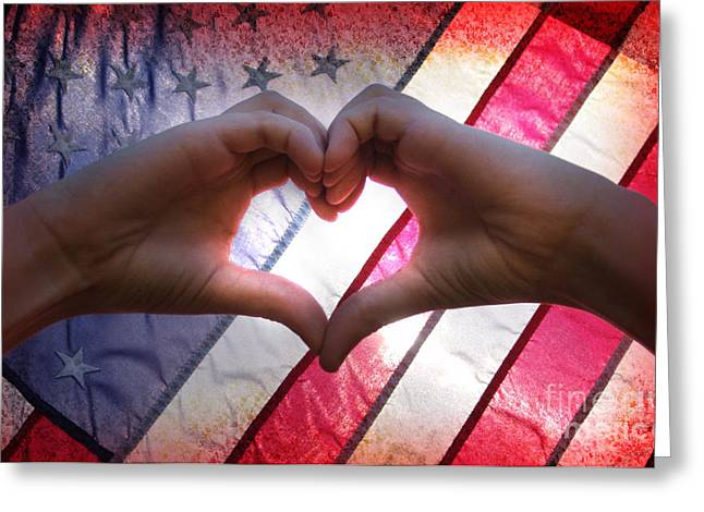 Love From America Greeting Card