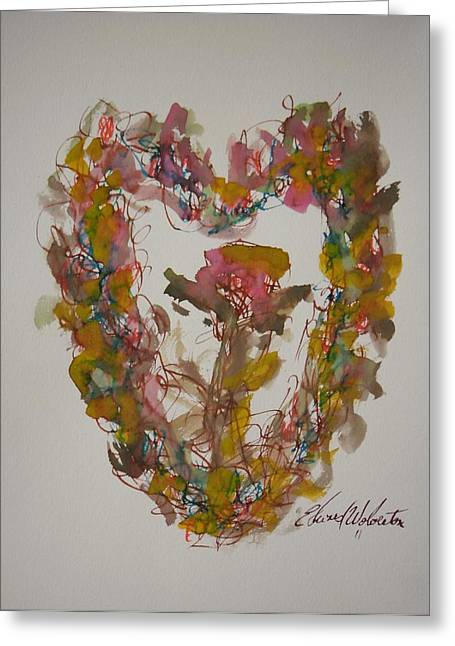 Love Heart Greeting Card by Edward Wolverton