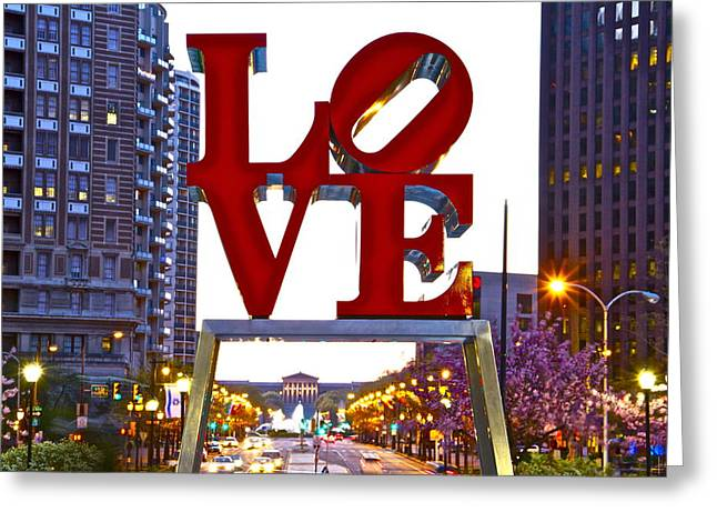 Greeting Card featuring the photograph Love In Philadelphia by Alice Gipson