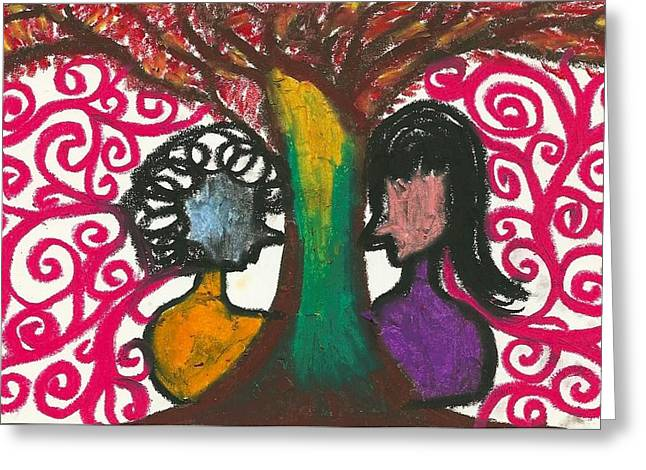 Love In The Tree's Explostion Greeting Card by Ivy T Flanders