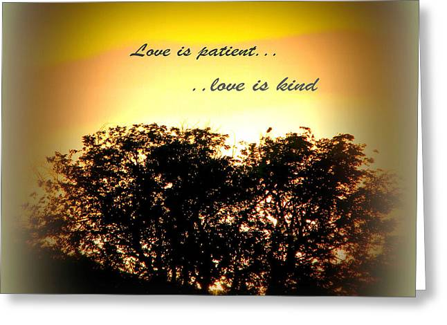 Love Is Patient   Greeting Card by Michelle Frizzell-Thompson