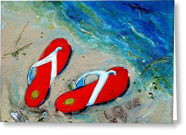Love My Flipflops Greeting Card