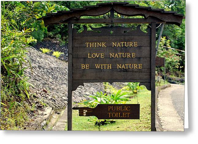Greeting Card featuring the photograph Love Nature by Lynn Hughes