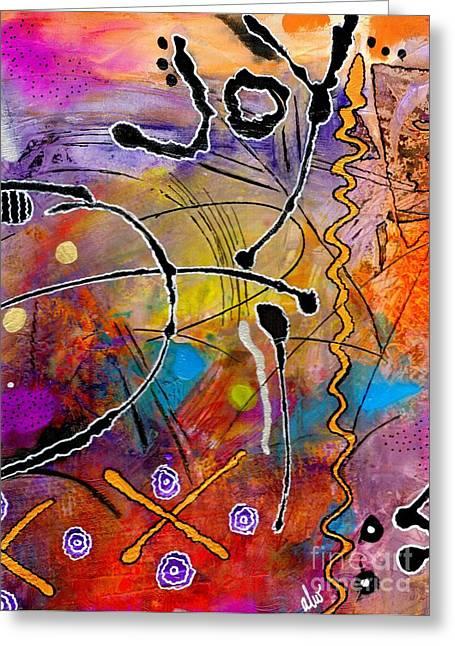 Love Of Life Series - Joy Greeting Card by Angela L Walker