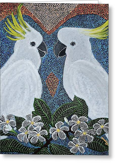 Love Of The Cockatoos Greeting Card
