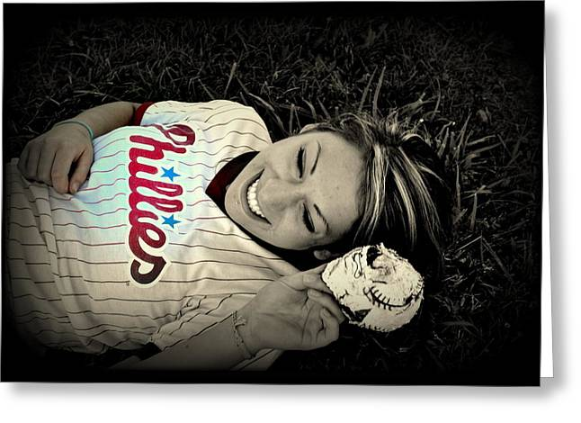 Love Of The Game Greeting Card by Ashley Branstetter