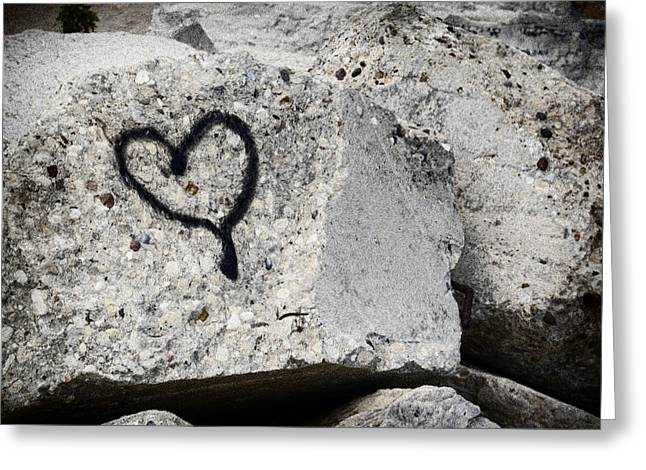 Love On The Rocks Greeting Card by Joan Carroll