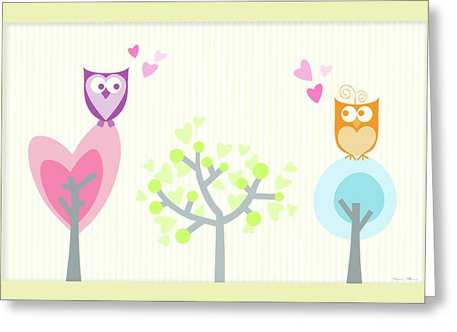 Love Owls Greeting Card by Nomi Elboim