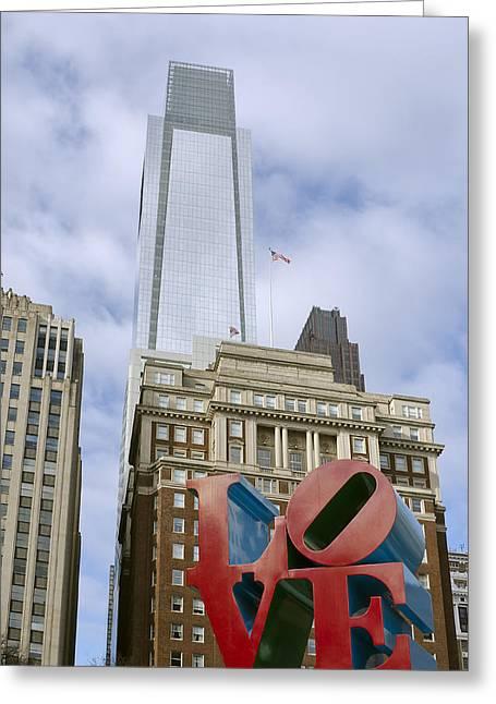 Love Park - Center City - Philadelphia  Greeting Card by Brendan Reals