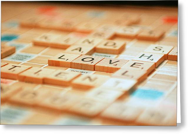 Love Tiled 2 Greeting Card by Mary Hershberger