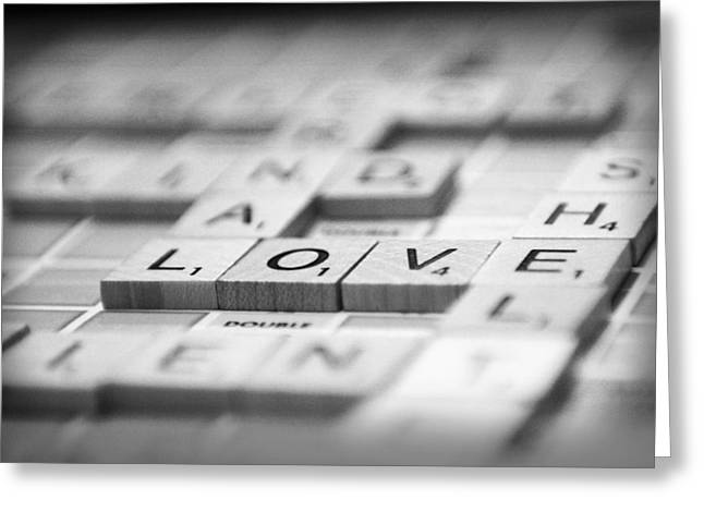 Love Tiled 3 Greeting Card by Mary Hershberger