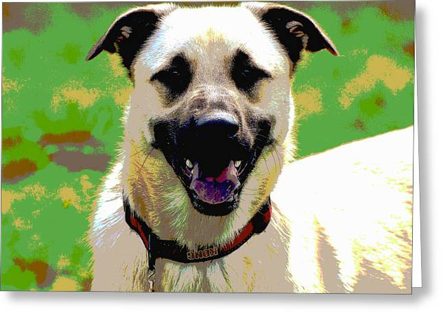 Loves To Smile Greeting Card by Dorrie Pelzer