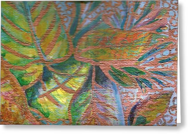 Loving Leaves  Greeting Card by Anne-Elizabeth Whiteway