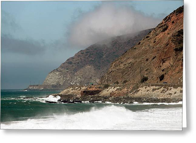 Low Clouds On The Pacific Coast Highway Greeting Card