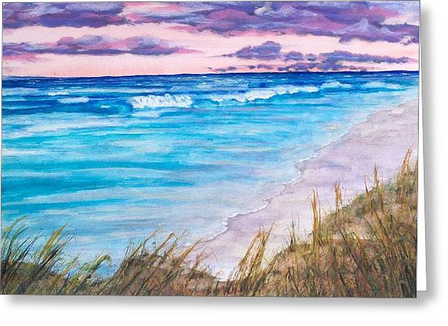 Low Tide Greeting Card by Jeanette Stewart