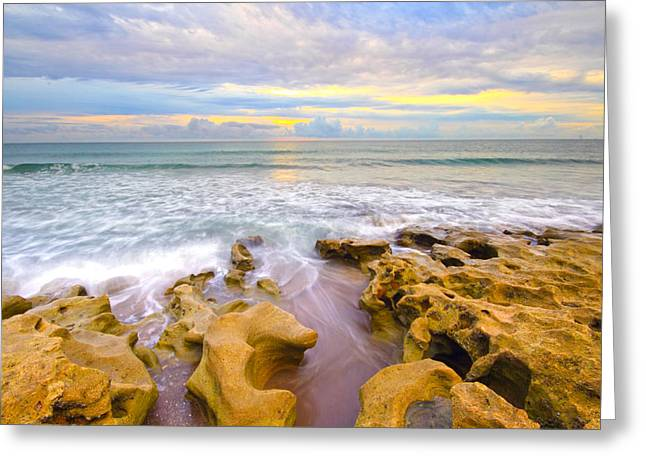 Low Tide Sunrise  Greeting Card by Tracy Welker