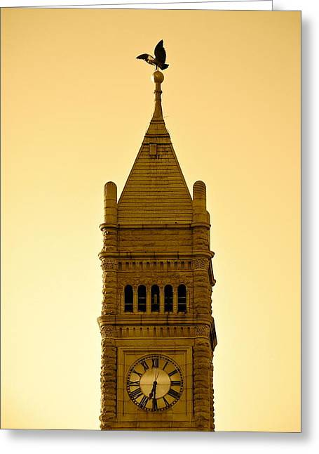 Lowell Clock Tower II Greeting Card