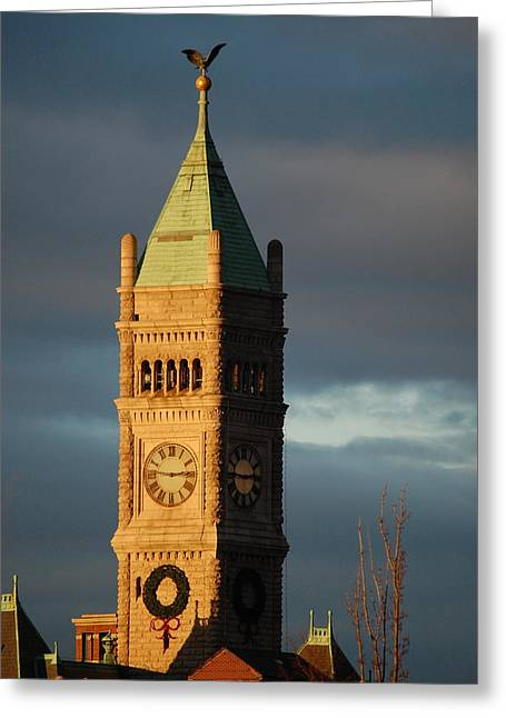Lowell Clock Tower Greeting Card