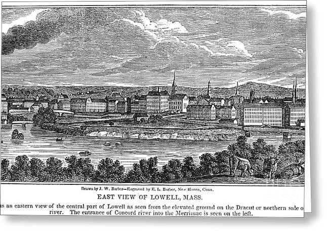 Lowell: Factories, 1844 Greeting Card
