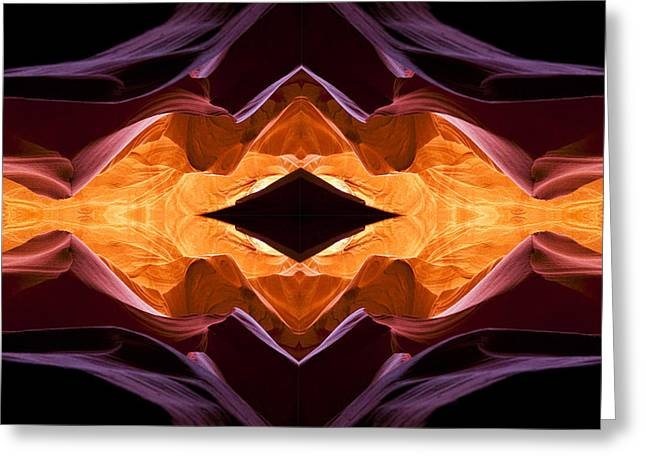 Lower Antelope Canyon Eye Greeting Card by Gregory Scott