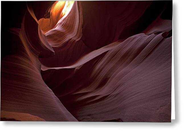 Lower Antelope Eleven Am On The Dot Greeting Card by Gregory Scott