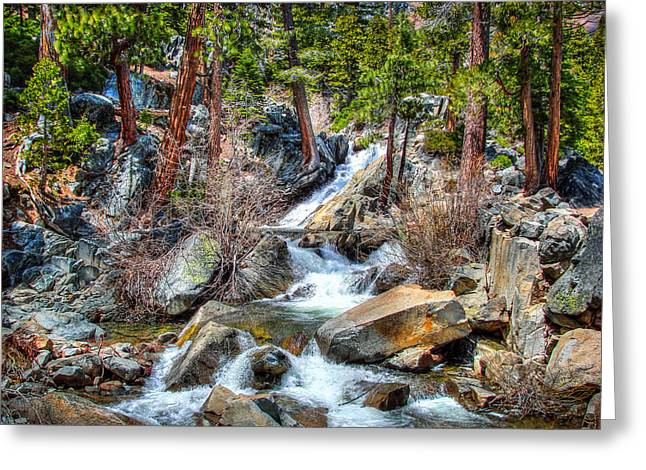 Lower Eagle Falls Emerald Bay Lake Tahoe Greeting Card by Scott McGuire