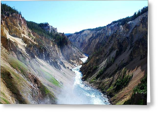 Lower Falls - Yellowstone Greeting Card by Dany Lison