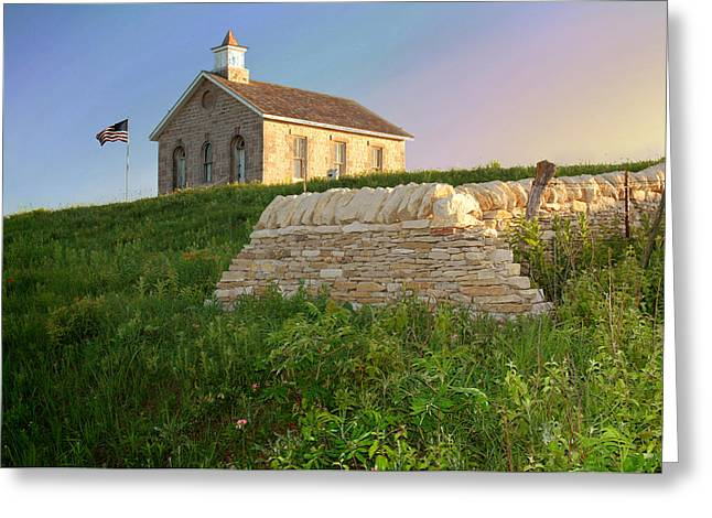 Greeting Card featuring the photograph Lower Fox Creek School by Rod Seel