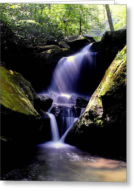 Lower Grotto Falls Greeting Card by Frozen in Time Fine Art Photography