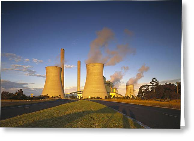Loy Yang Power Station, Coal Burning Greeting Card by Jean-Marc La Roque