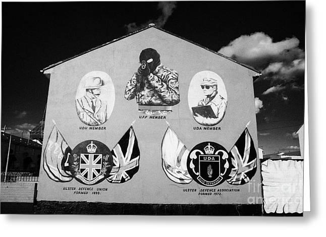 Loyalist Protestant Mural Uda Northern Ireland Greeting Card by Joe Fox