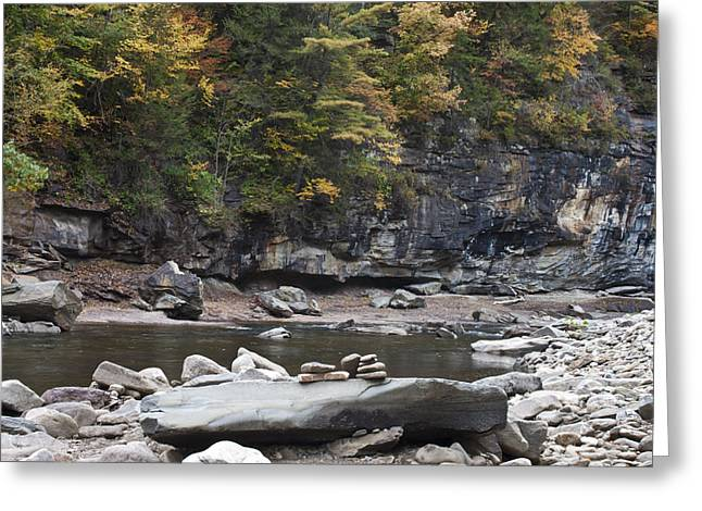 Loyalsock Creek In The Fall Greeting Card