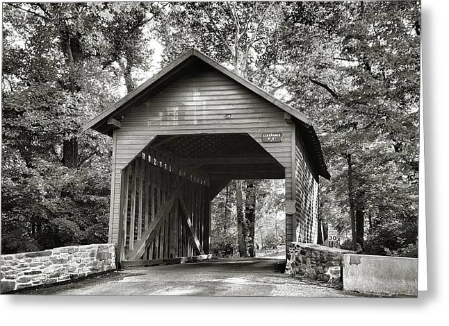 Loy's Station Bridge II Greeting Card by Steven Ainsworth