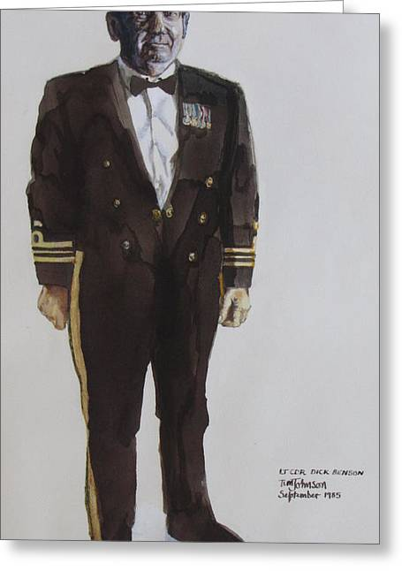 Lt Cdr Dick Benson Greeting Card