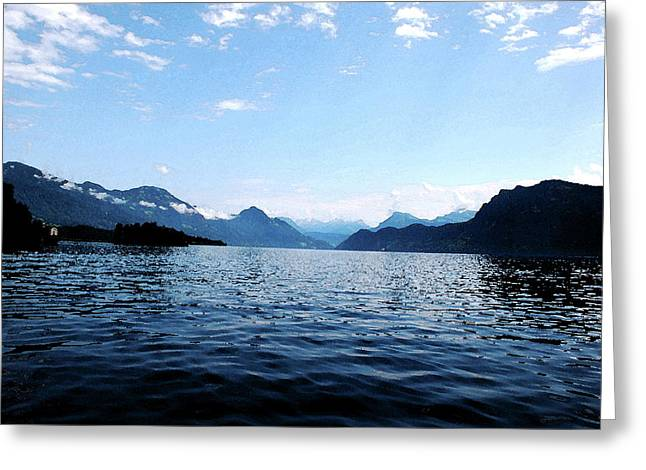 Greeting Card featuring the photograph Lucerne Lake by Pravine Chester